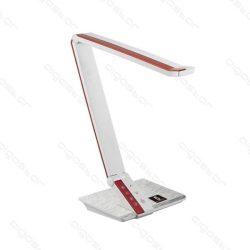 LED asztali lámpa fekete-fehér 10W, érintős-fényerőszabályozható
