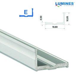 Led profil led szalagokhoz, szélesebb L alakú ezüst, 1 méteres