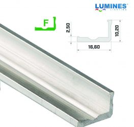 Led profil led szalagokhoz, keskenyebb L alakú,  natúr, 2 méteres