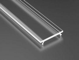 Átlátszó takaróprofil Standard 1 méteres profilhoz