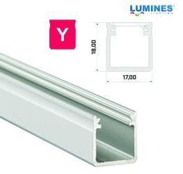 Led profil, led szalagokhoz, Magas falú  ezüst, 1 méteres, alumínium