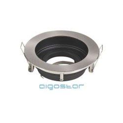 LED spot lámpa beépítő keret kerek TS71 INOX GU10 és MR16-os LED izzókhoz