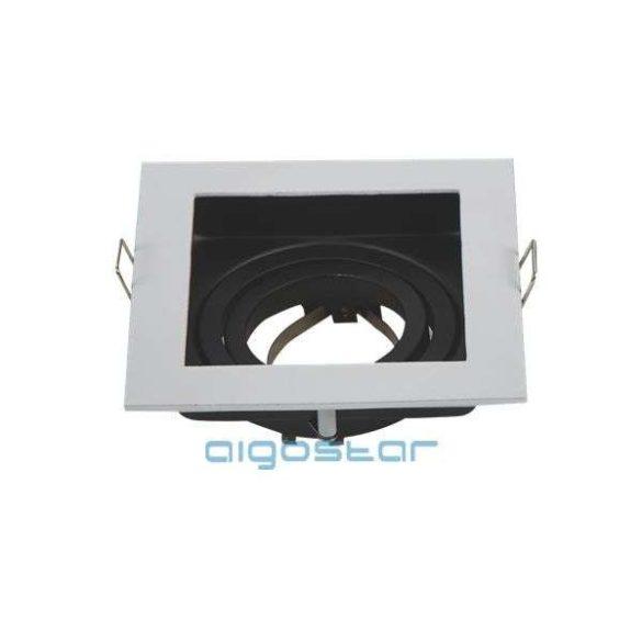 LED spot lámpa beépítő keret szögletes TS71 fehér GU10 és MR16-os LED izzókhoz