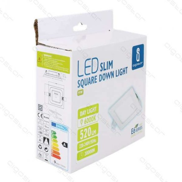 AIGOSTAR Mini Led Panel E6 Beépíthető Négyszögletes 9W meleg fehér