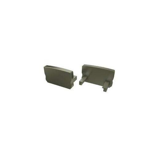 Alumínium Végzáró Standard (A) led profilokhoz Bronz Teli Magas