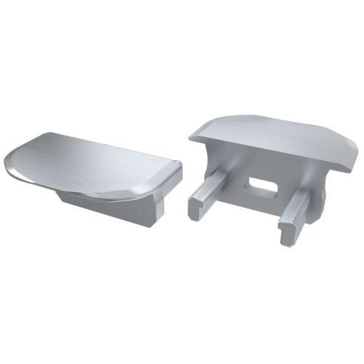 Alumínium Végzáró Beépíthető (B) led profilokhoz Szürke