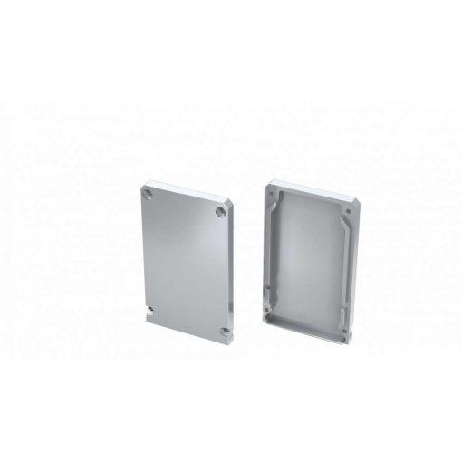 Alumínium Végzáró CLARO led profilokhoz Ezüst Teli