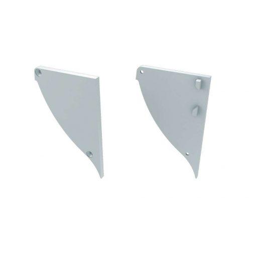 Alumínium Végzáró CONVA típusú led profilokhoz Fehér Balos