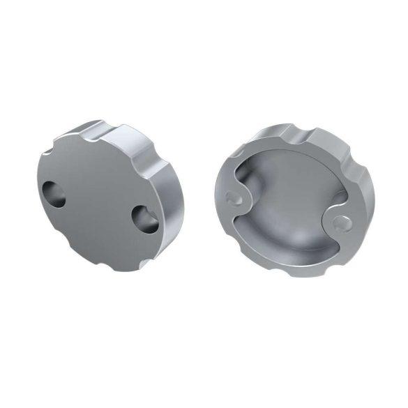 Alumínium Szabályozható Végzáró Alumínium LUMINES COSMO profilokhoz Ezüst