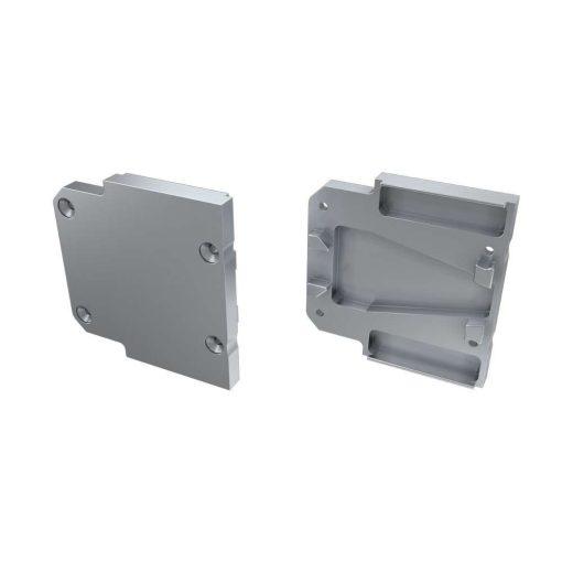 Alumínium Végzáró DOPIO típusú led profilokhoz Ezüst