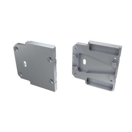 Alumínium Végzáró DOPIO típusú led profilokhoz Ezüst Lyukas