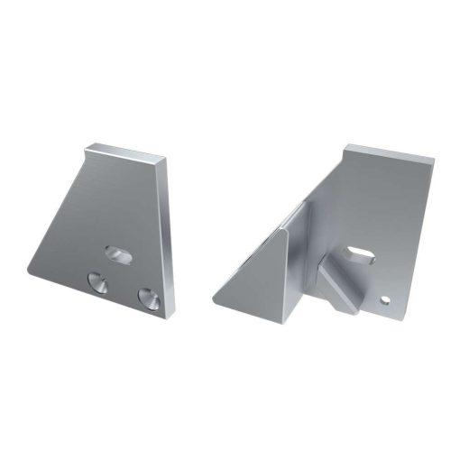 Alumínium Végzáró I10 alumínium profilokhoz Ezüst Balos Lyukas Támasztékos