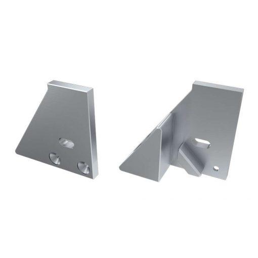 Alumínium Végzáró I10 alumínium profilokhoz Ezüst Jobbos Lyukas Támasztékos