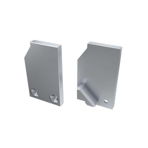 Alumínium Végzáró I10 alumínium profilokhoz Ezüst Jobbos Teli Támaszték nélküli