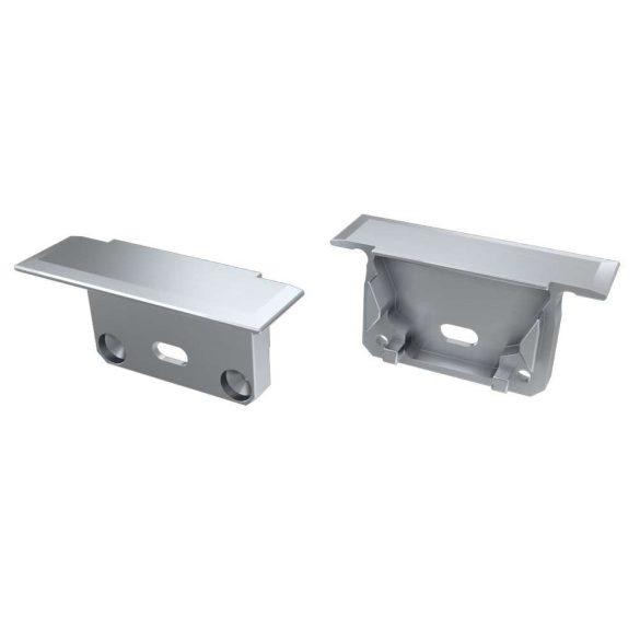 Alumínium Végzáró INSILEDA típusú led profilokhoz Ezüst Lyukas