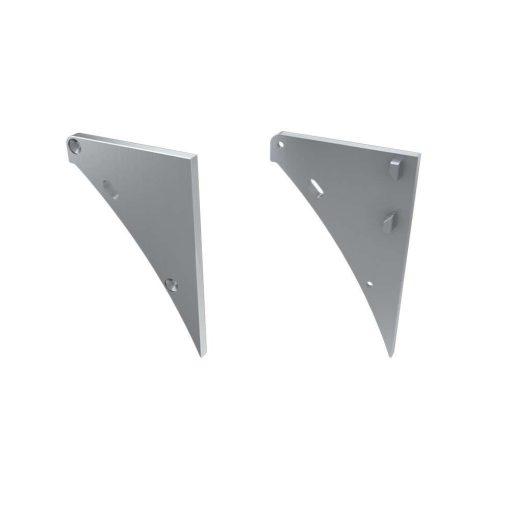 Alumínium Végzáró LOGI típusú led profilokhoz Ezüst Balos Lyukas