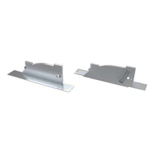 Alumínium Végzáró PERO típusú led profilokhoz Ezüst Balos Lyukas