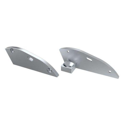 Alumínium Végzáró RETO típusú led profilokhoz Ezüst Jobb Lyukas 15°