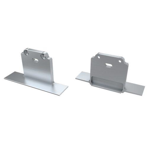 Alumínium Végzáró SUBLI típusú led profilokhoz Ezüst Lyukas