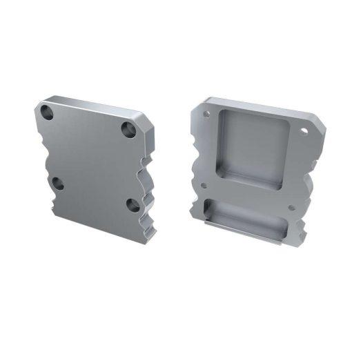 Alumínium Végzáró  M1+TALIA típusú led profilokhoz Ezüst
