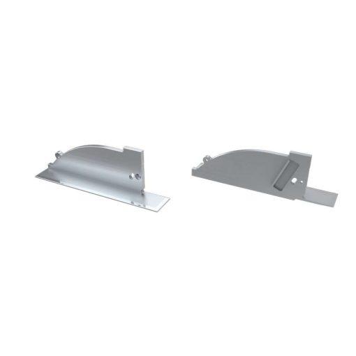 Alumínium Végzáró TOPO típusú led profilokhoz Ezüst Balos Lyukas