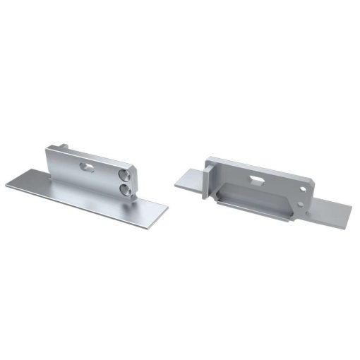 Alumínium Végzáró ZATI típusú led profilokhoz Ezüst Lyukas Jobbos