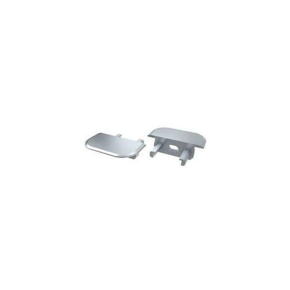 Alumínium Végzáró Beépíthető(Z) Led Profilokhoz Szürke Lyukas