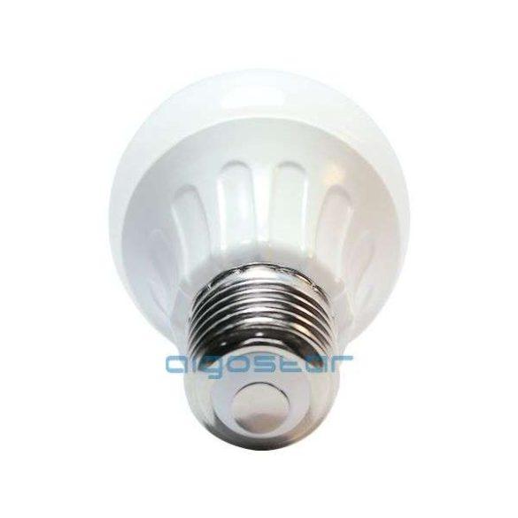 LED izzó, 6W, E27 foglalattal, hideg fehér, 280°  szórásszögű