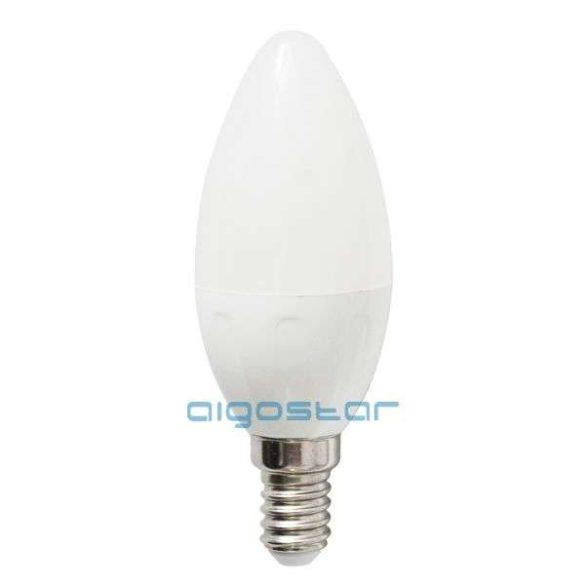 LED izzó 4W, E14 foglalattal, gyertya formájú, meleg fehér