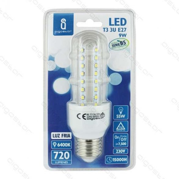 Kukorica LED izzó, 10W, E27 foglalattal, hideg fehér