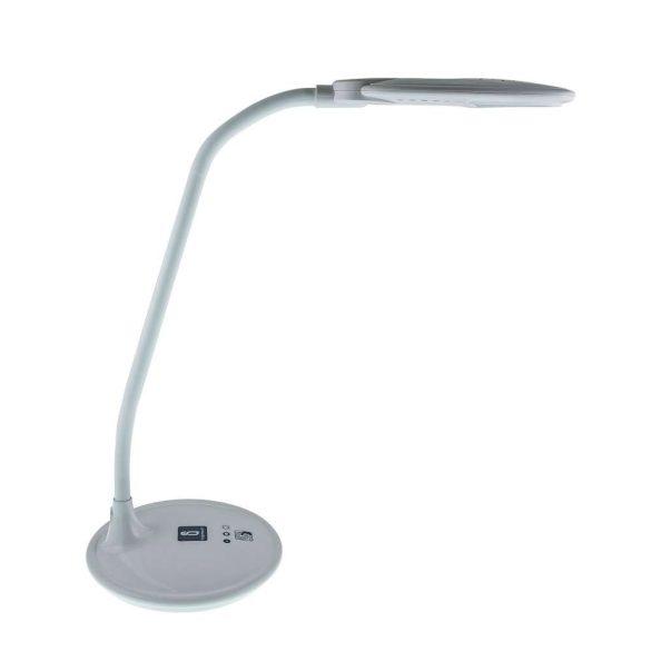 LED asztali lámpa, fehér, 5W, érintős-fényerőszabályozható