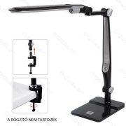 LED asztali lámpa, lakk fekete, 10W, érintős-fényerő és színhőmérséklet szabályozható