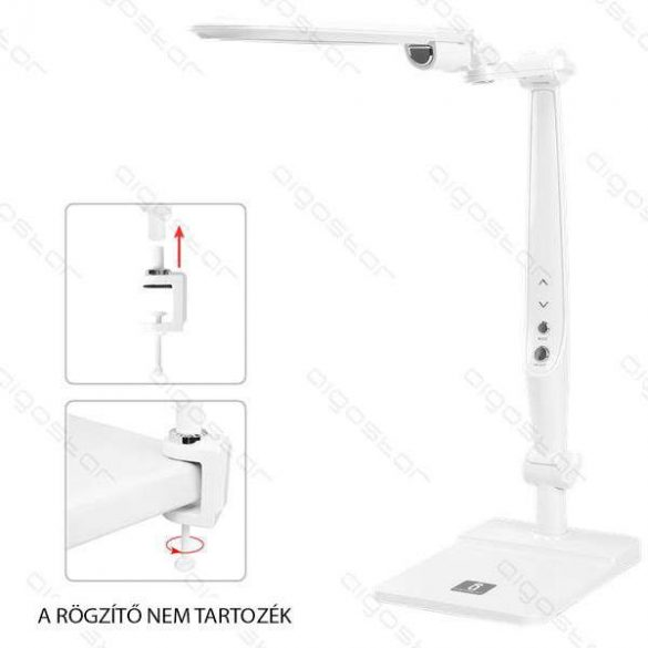 Aigostar LED asztali lámpa lakk fehér 10W érintős-fényerő és színhőmérséklet szabályozható