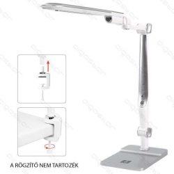 LED asztali lámpa lakk ezüst 10W érintős-fényerő és színhőmérséklet szabályozható