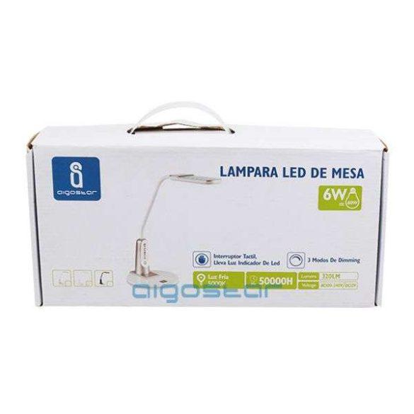 Aigostar LED asztali lámpa lakk fehér 6W érintős-fényerőszabályozható