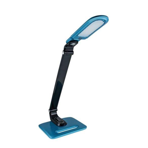LED asztali lámpa kék-fekete 8W, érintős-fényerőszabályozható