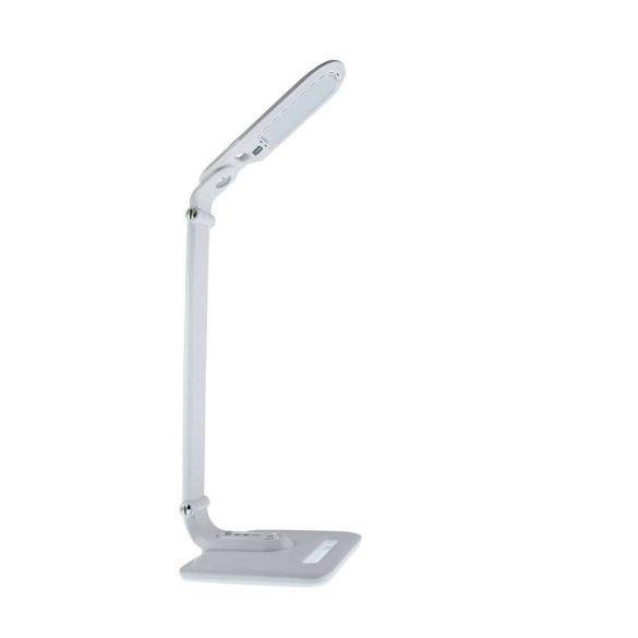 LED asztali lámpa lakk fehér 8W, érintős-fényerőszabályozható