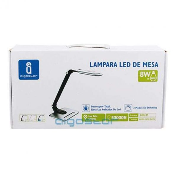 Aigostar-LED-asztali-lampa-ezust-fekete-8W-erintos-fenyeroszabalyozhato