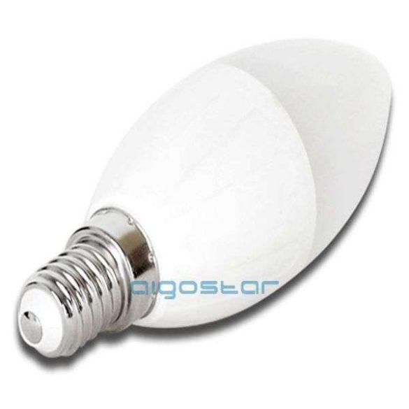 LED izzó 7W, E14 foglalatú, 270˙ szórásszögű, meleg fehér