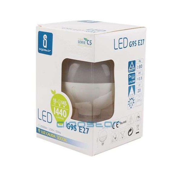 Aigostar LED Gömb izzó G95 E27 15W Hideg fehér
