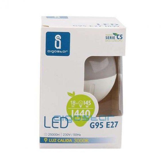 Aigostar LED izzó G95 E27 15W Meleg fehér