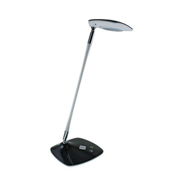 LED asztali lámpa lakk fekete-fehér, 8W, érintős-fényerő és színhőmérséklet szabályozható