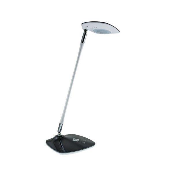 LED asztali lámpa lakk fekete-fehér, 5W, érintős-fényerő és színhőmérséklet szabályozható