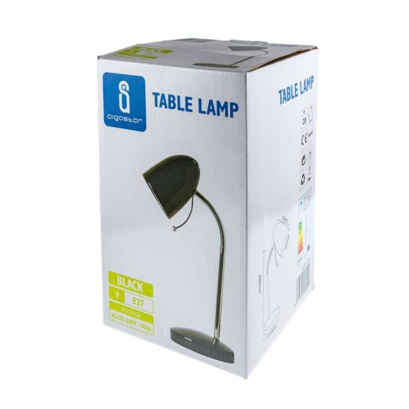 Asztali lámpa fekete E27