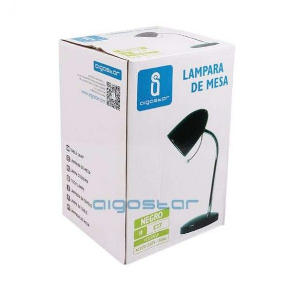 Aigostar-Asztali-lampa-fekete-E27-foglalattal