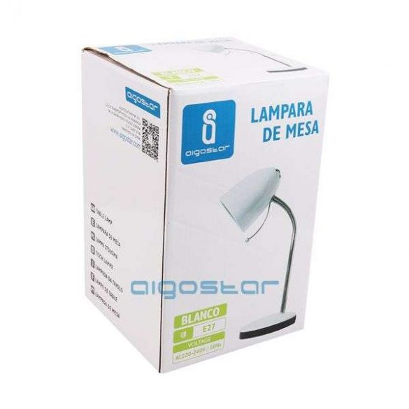Aigostar Asztali lámpa fehér E27 foglalattal