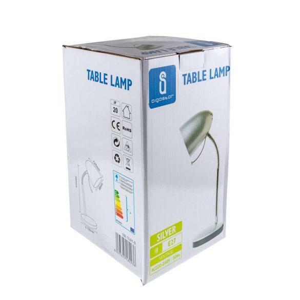 Aigostar-Asztali-lampa-ezust-E27-foglalattal