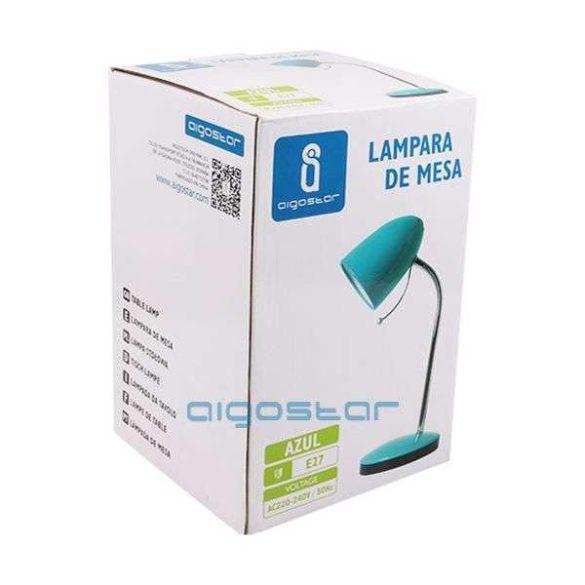 Aigostar Asztali lámpa kék E27 foglalattal