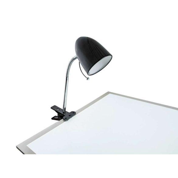 Aigostar Asztali lámpa fekete csiptetős E27 foglalattal