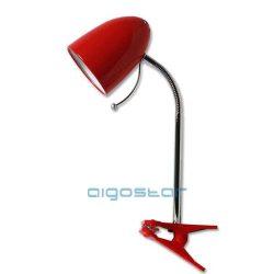 Asztali lámpa piros csiptetős E27
